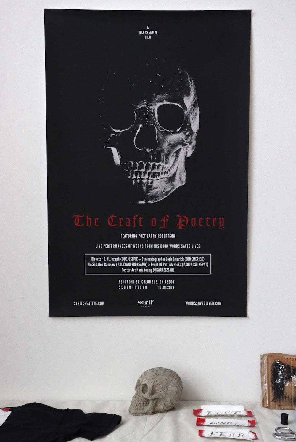 """The Craft of Poetry - A Serif Creative Film"" Signed Poster"
