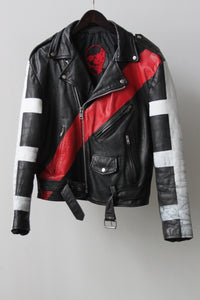 "WSL Customized Vintage Leather ""Zipper Club"" Motorcycle Jacket"