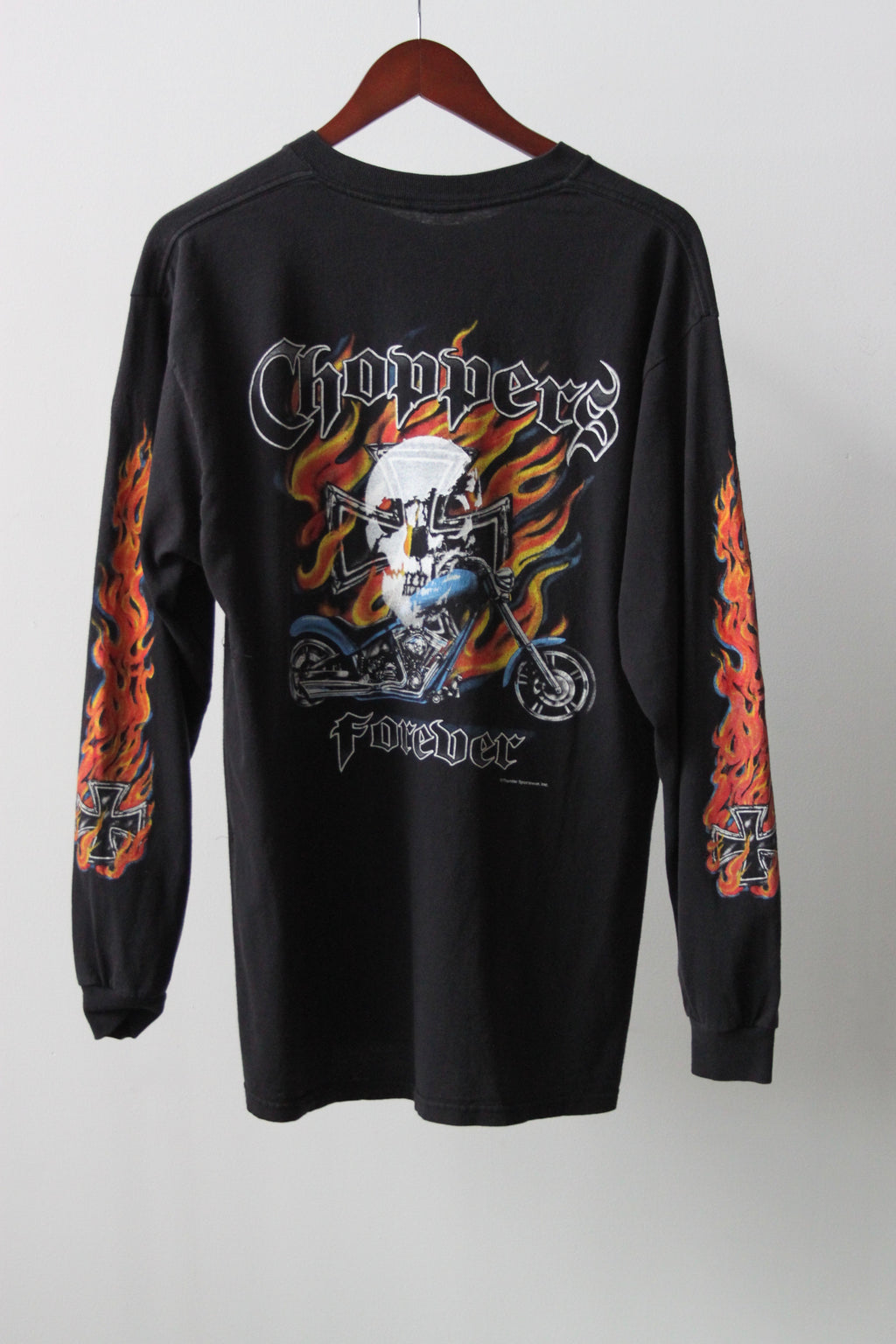 WSL Customized Vintage Reversible L/S Choppers Forever T-Shirt