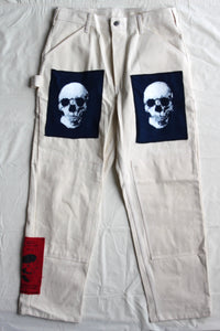 "WSL Customized Deadstock Vintage ""3 Skull"" Work Pants"