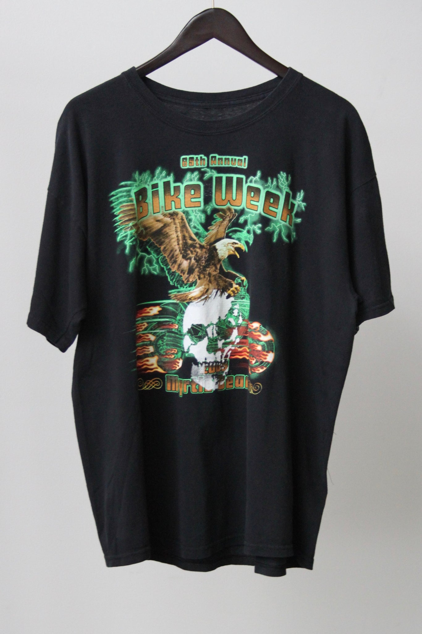 "WSL Customized Vintage Reversible ""69th Annual Bike Week"" T-Shirt"