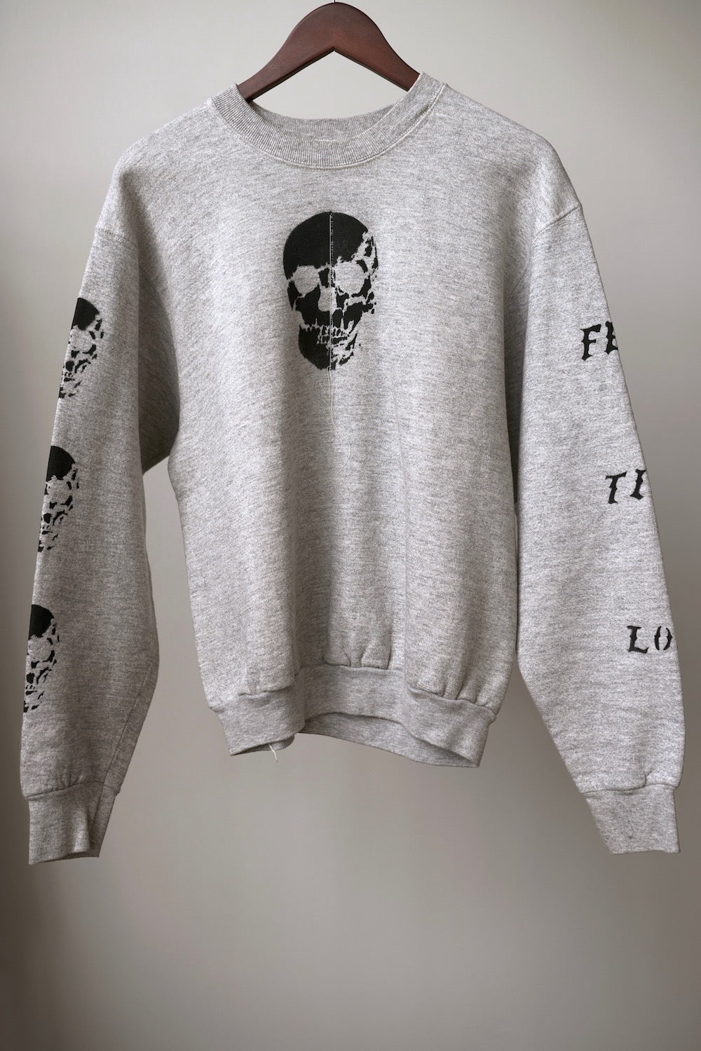 "WSL Customized Vintage ""Zipper Club"" Skullhead Sweatshirt"