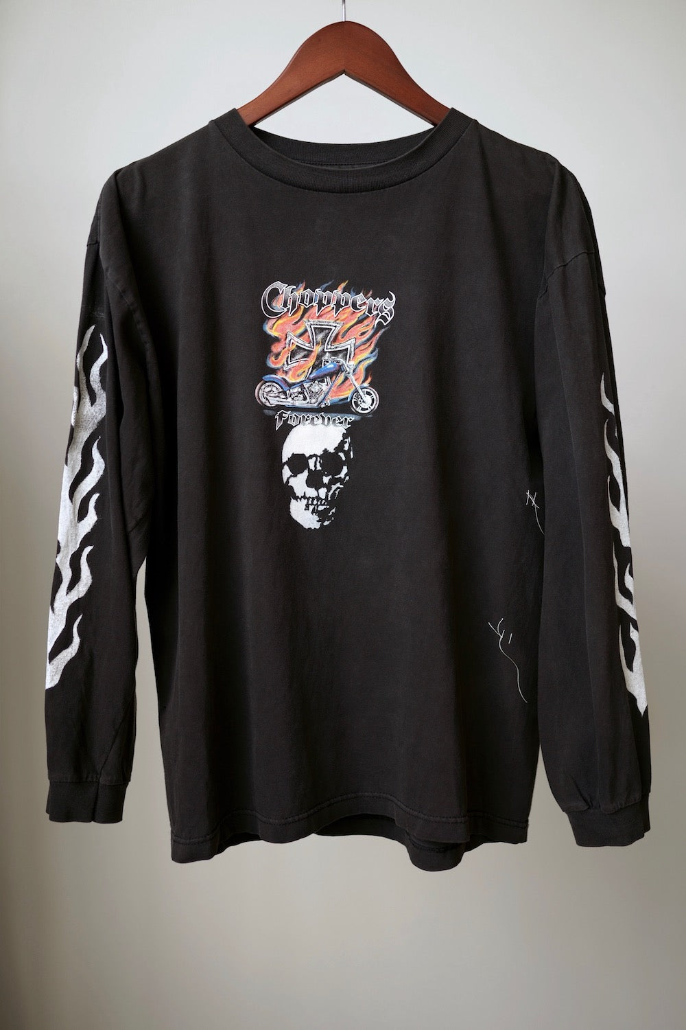 WSL Customized Vintage Reversible L/S Choppers Forever Time T-Shirt