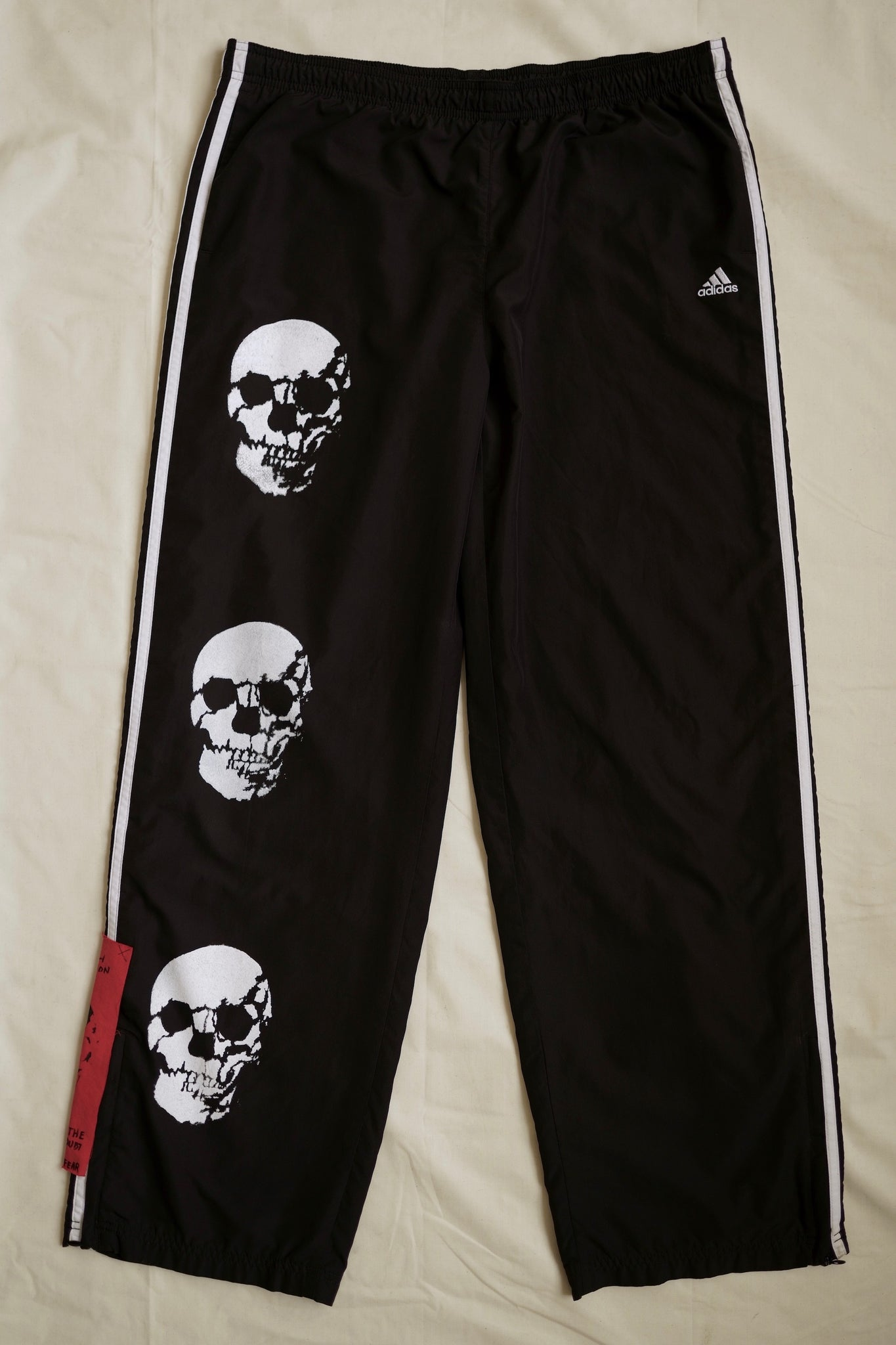 "WSL Customized Vintage ""3 Skull"" Adidas Track Pants"