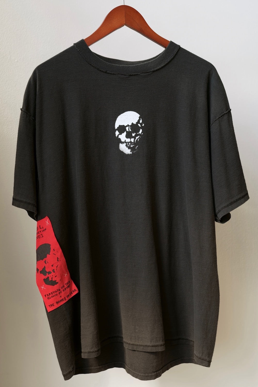 WSL Customized Vintage Reversible Blood Skull T-Shirt