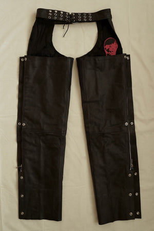 "WSL Customized Vintage ""Skull Rider"" Leather Chaps"