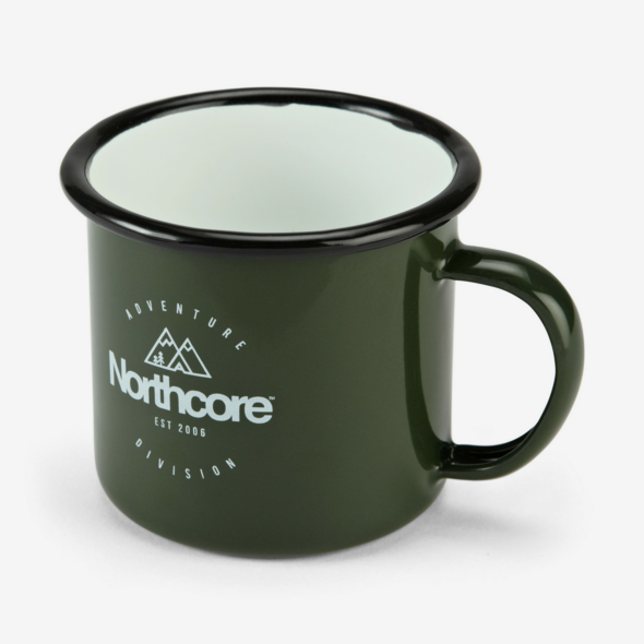 Carve Surf Shop Northcore Green Enamel Travel Camping Mug