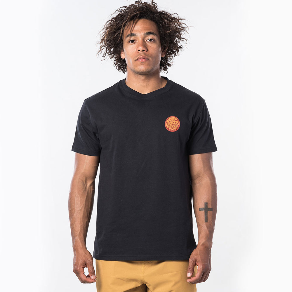 Carve Surf Shop Rip Curl 'Passage' Short Sleeve Tee in Black T-Shirt Top