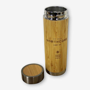 Carve Northcore Bamboo Stainless Steel Thermos Flask 360ML