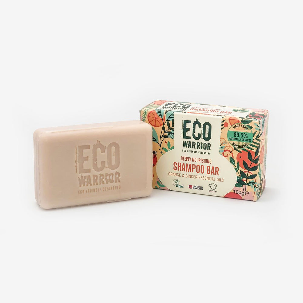 Eco-Warrior Shampoo Bar - Orange & Ginger Essential Oil Blend