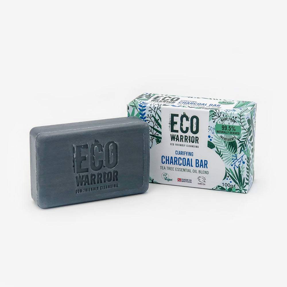 Eco-Warrior Clarifying Charcoal Cleansing Bar - Tea Tree Essential Oil Blend