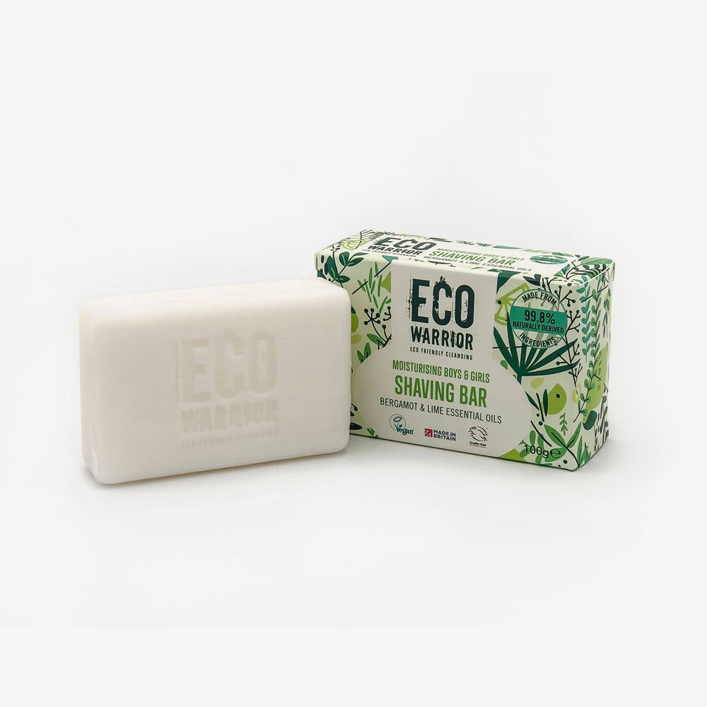 Eco-Warrior Shaving Bar - Bergamot & Lime Essential Oil Blend
