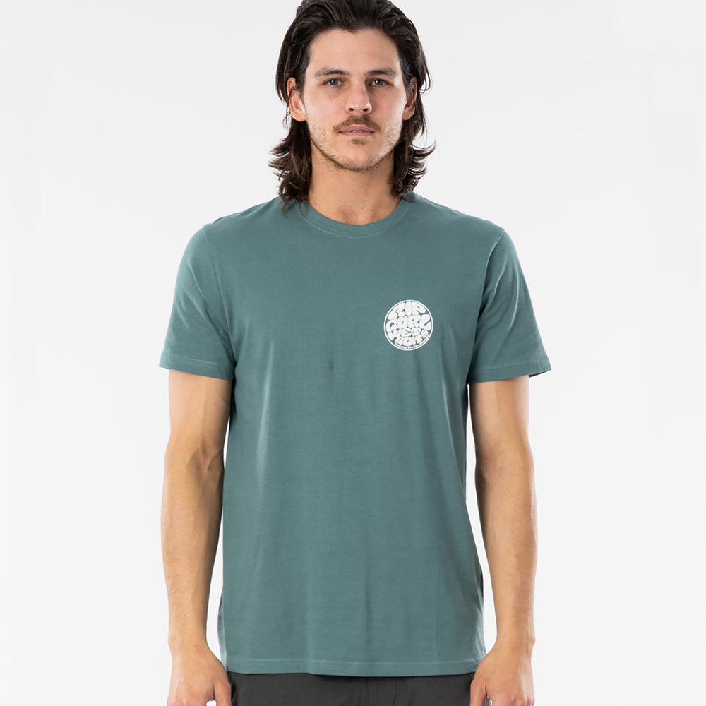 Rip Curl Wettie Essential Tee in Bluestone