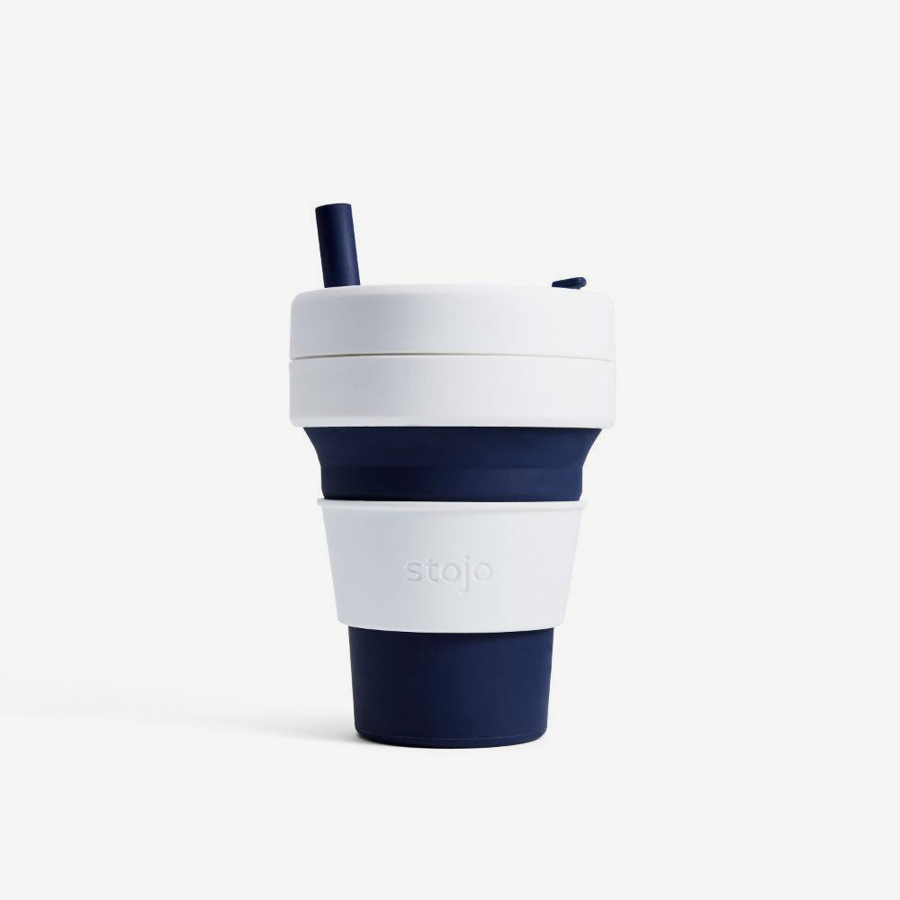Carve Surf Shop Stojo Collapsable Reusable Travel Cup Biggie 16oz Dark Blue Indigo