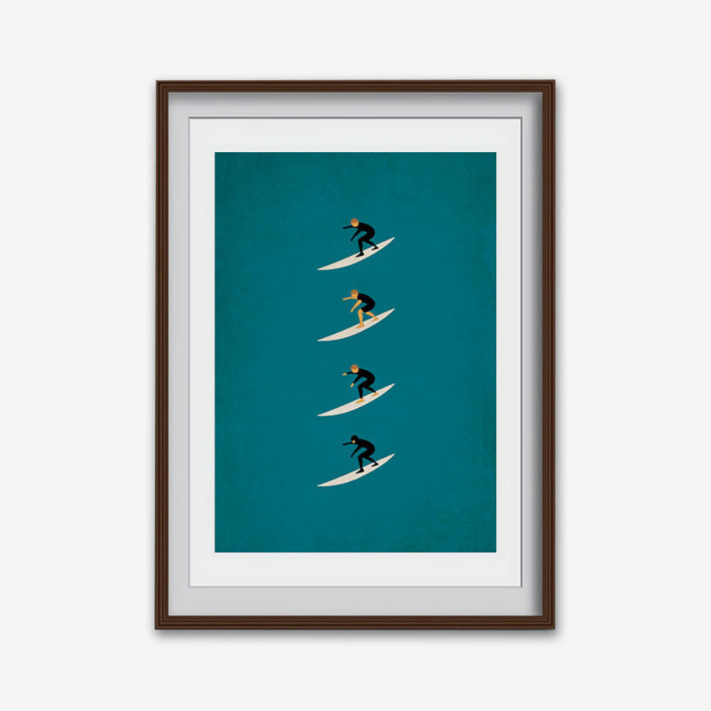 'Surf Through the Seasons' Male Print (various sizes)