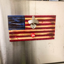 Load image into Gallery viewer, American Flag Magnetic Bottle Opener