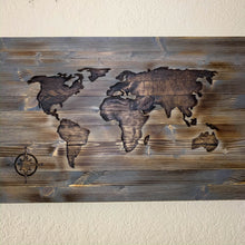 Load image into Gallery viewer, Hand Carved World Map