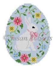 0446 Bunny in Flower Vine Easter Egg