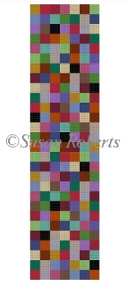 0661 Multi Checkers Eyeglass Case