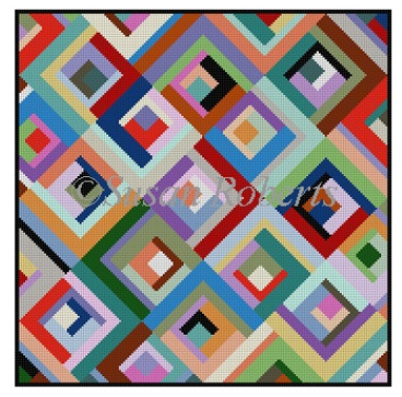 1647 Log Cabin Askew Quilt