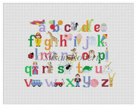 2307 Alphabet with Characters Child's Seat