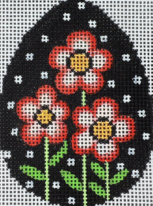 26030 Poppies with Dots Egg