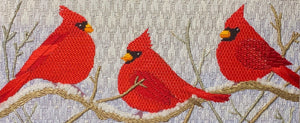 Three Cardinals in the Snow Complete Kit
