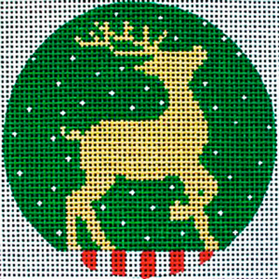 Gold Reindeer Stitch Along