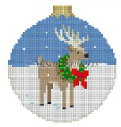 7204 Reindeer in Wreath