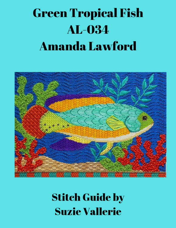 Green Tropical Fish Stitch Guide AL-034