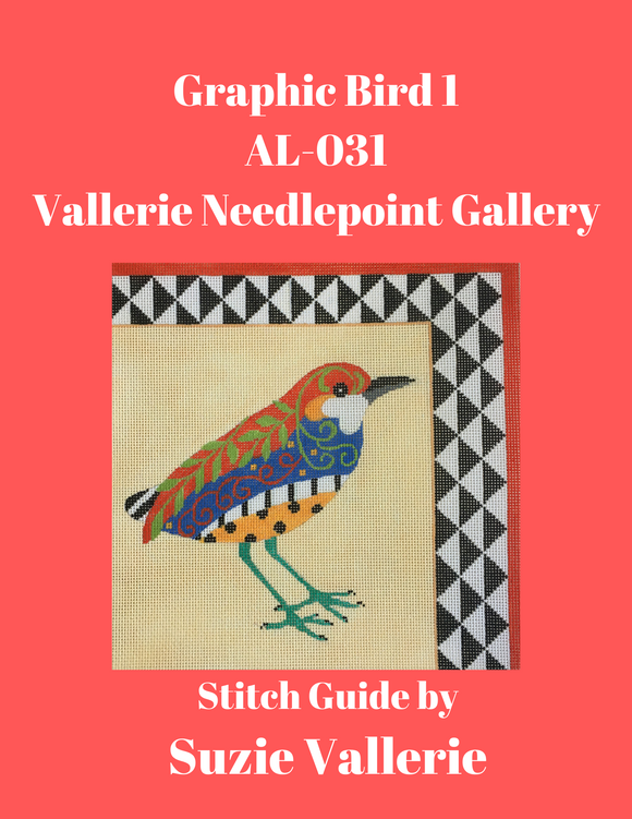 Graphic Bird 1 Stitch Guide AL-031