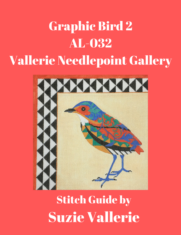 Graphic Bird 2 Stitch Guide AL-032