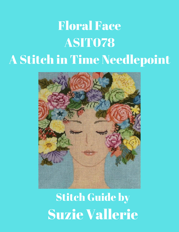 Floral Face Stitch Guide ASIT-078