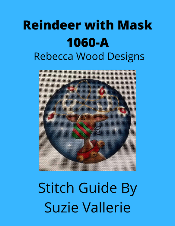 Reindeer with Mask Stitch Guide