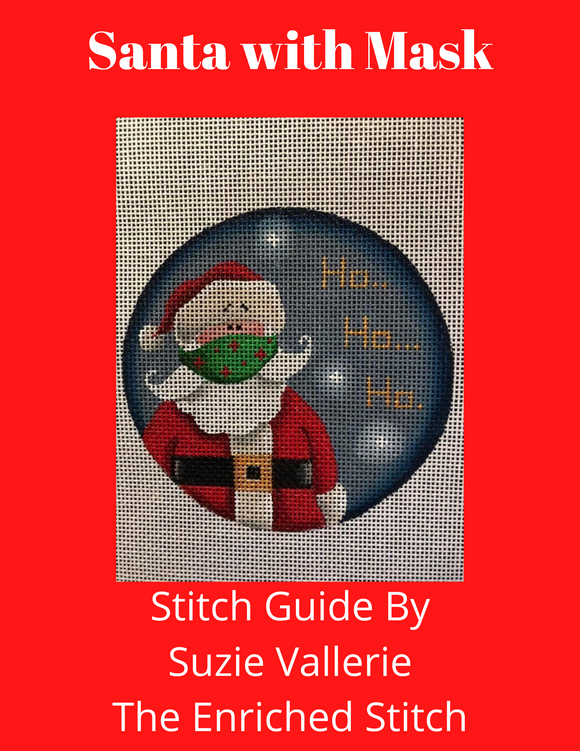 Santa with Mask Stitch Guide
