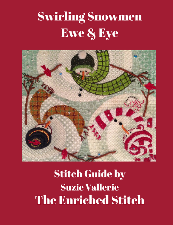 Swirling Snowmen Stitch Guide