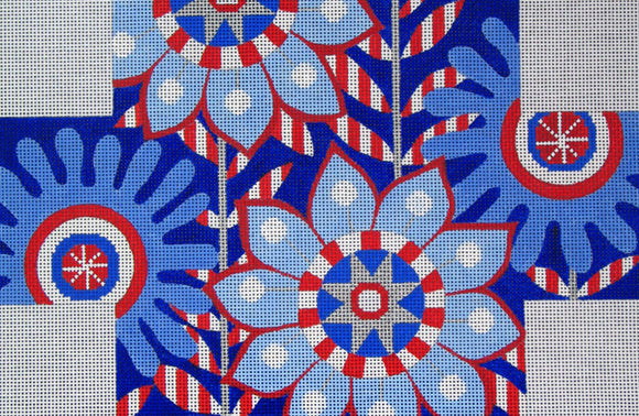 B-49 Red-White-Blue Floral