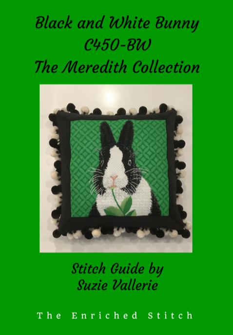 Black and White Bunny Stitch Guide C450-BW