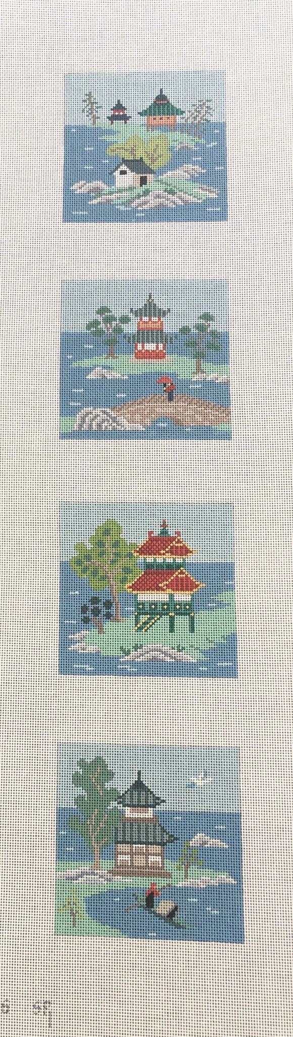 0526 Asian Islands Coaster Set - Colors