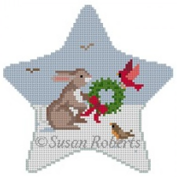 5765 Rabbit with Birds Star