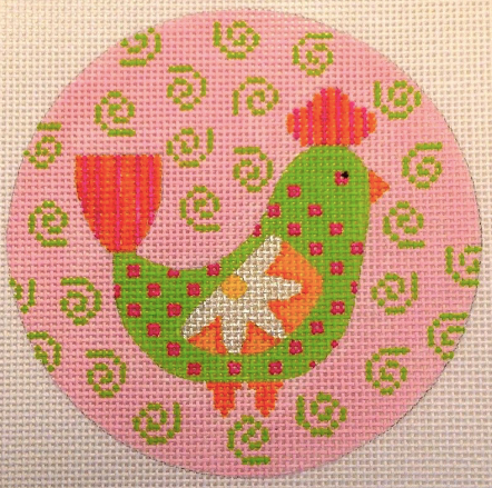 N113E Mod Birds Pink and Green Swirl