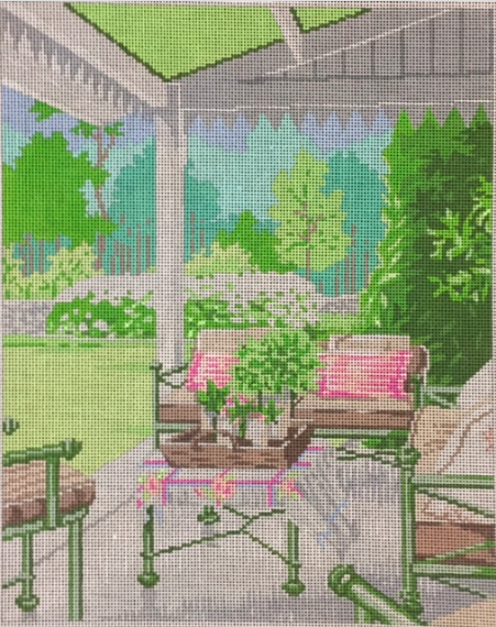 ASIT116 Porch Pink & Green