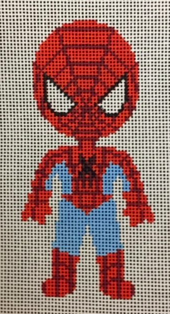 A Stitch In Time cartoon superhero needlepoint canvas of Spiderman