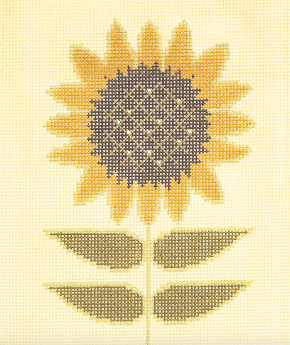 3K designs needlepoint canvas of a sunflower