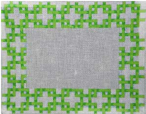 PF-276 Lattice Frame Green and White