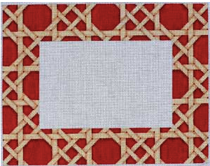 PF-277 Camel and Red Caning Pattern Frame