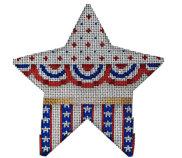 CT-1991 Buntings, Stars on Stripes Star Large
