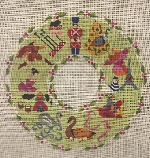 12 Days of Christmas Wreath Stitch Along