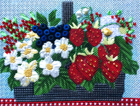 Petite Berry Basket Stitch Guide