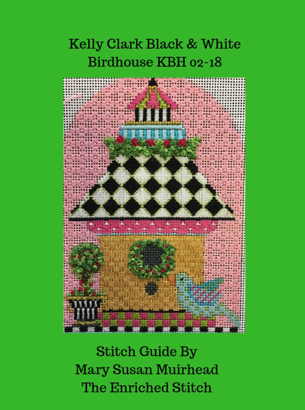 KBH-02-18 Kelly Clark Birdhouse Stitch Guide